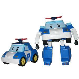 ROBOCAR POLI Transformables Asst 1 (Poli, Ambre, Mark, Poacher) - 2 en 1, le véhicule se transforme en robot ! Il se transforme en un tour de main ! Articulés, ses bras sont mobiles - Garçon et Fille - A partir de 3 ans - Livré ? l'unité