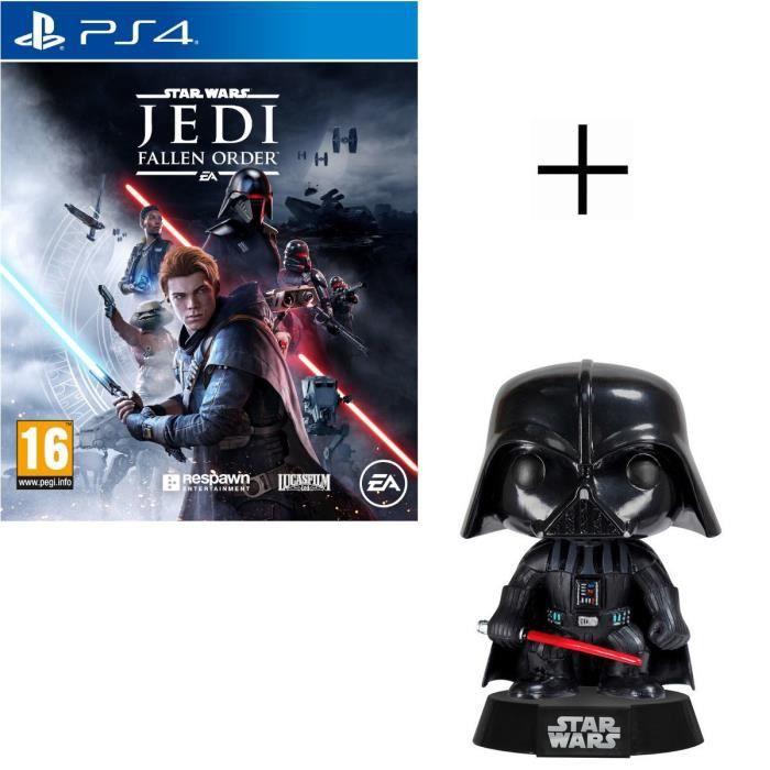 Pack Star Wars : Star Wars Jedi: Fallen Order Jeu PS4 + Figurine Funko Pop! Star Wars - Dark Vador