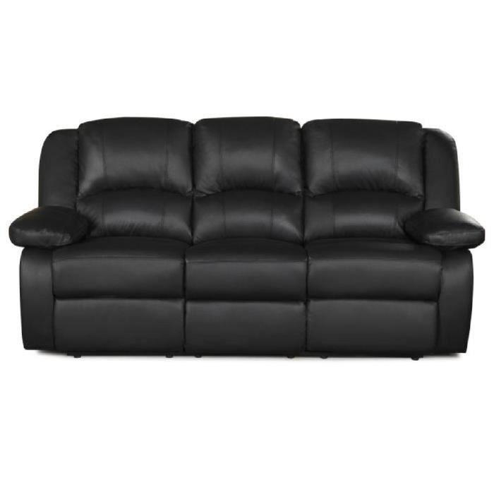 Canapé cuir noir chez CDiscount