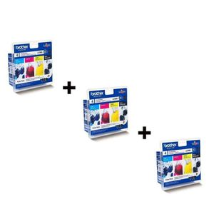 Brother LC980 Cartouches d'encre Multipack Coul...