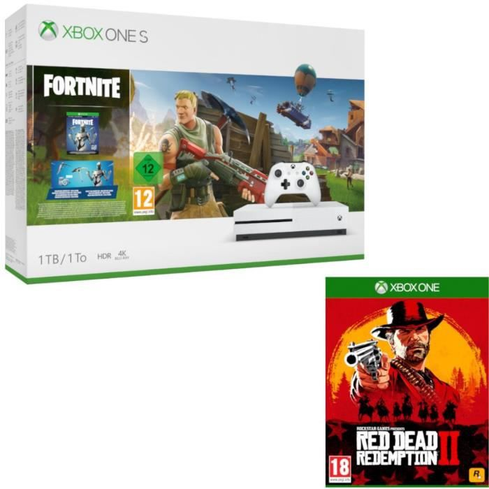 Xbox One S 1 To Fortnite + Red Dead Redemption 2