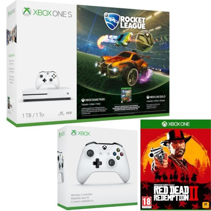 Xbox One X 1To Tomb Raider + 2e manette + Red Dead Redemption 2