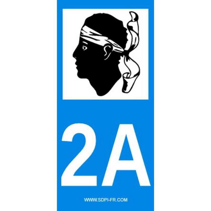 STICKZIF 2 Autocollants Région Département 2A SR2A