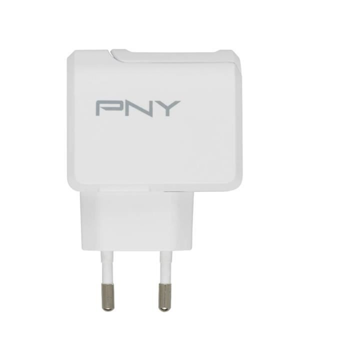 PNY Chargeur Secteur Fast Charge 2.4A EU pour Smartphone/Tablette