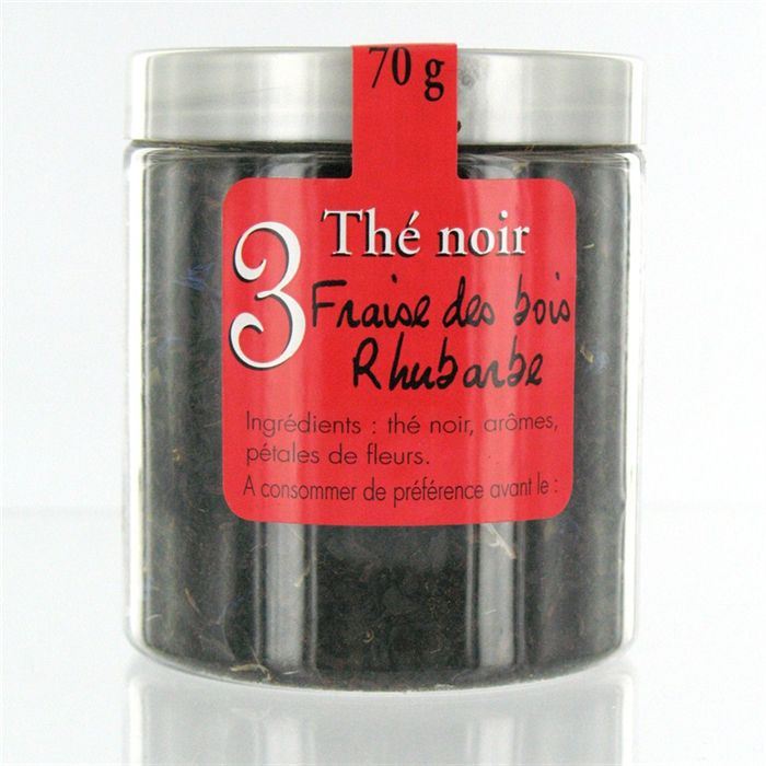 MAISON TAILLEFER Thé Noir Fraise des bois et Rhubarbe 60g
