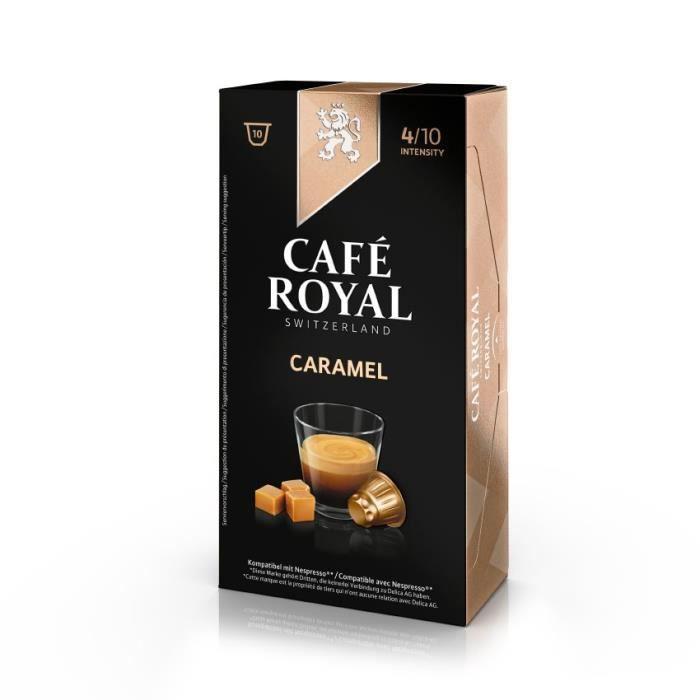 10 capsules Café Royal Caramel Capsules compatibles Système Nespresso ®