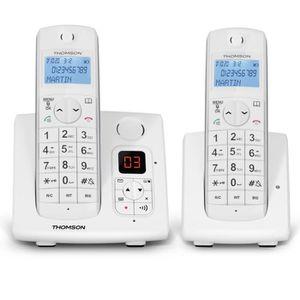 Thomson Jaspe Duo Téléphone Sans Fil Répondeur Blanc