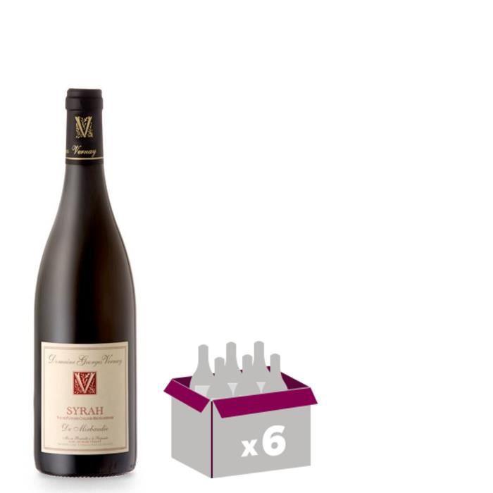 Syrah De Mirbaudie Domaine Georges Vernay - 2011 - Vin de Pays - Rouge - 75cl x6