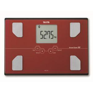 TANITA BC313RD36 P?se-personne compact en verre avec écran LCD large - Rouge