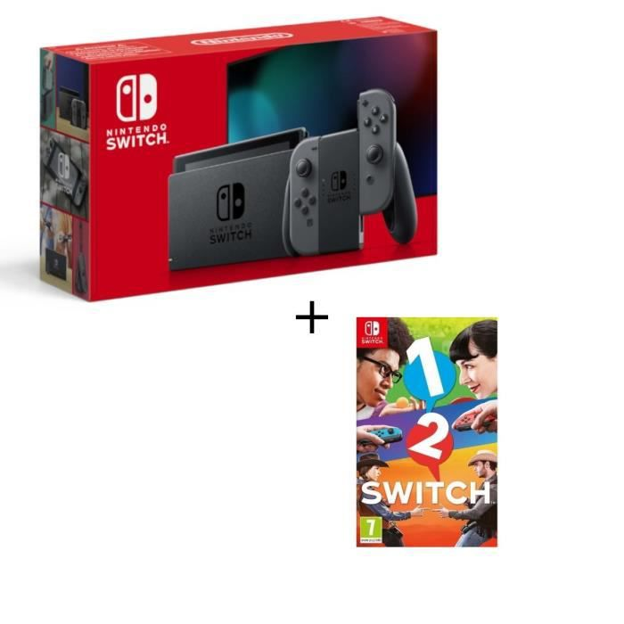 Console nintendo switch gris paire de joy con gris jeu 1 2 switch