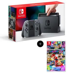Console Nintendo Switch avec paire de Joy-Con gris + Jeu Mario Kart 8 Deluxe