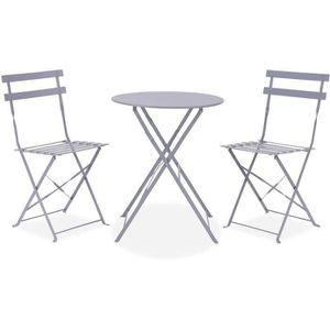 Ensemble tables et chaises WDS105GREY