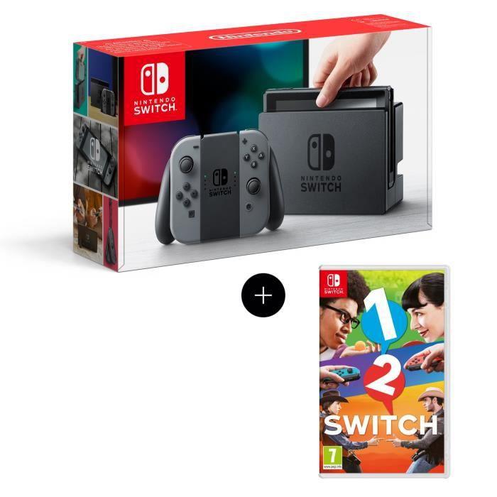 Console nintendo switch paire de joy con gris jeu 1 2 switch