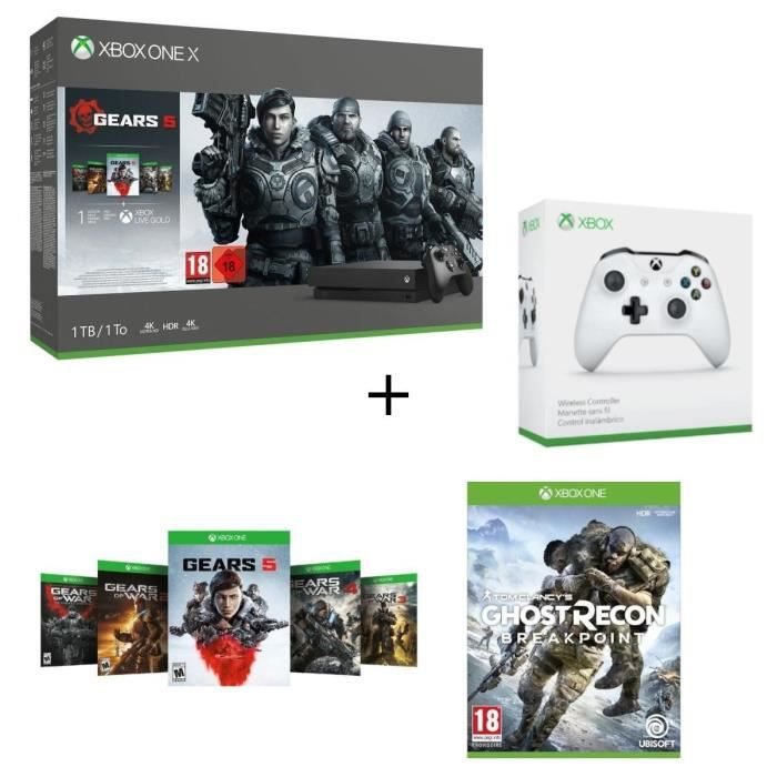 Xbox One X 1 To + 5 Jeux Gears of War
