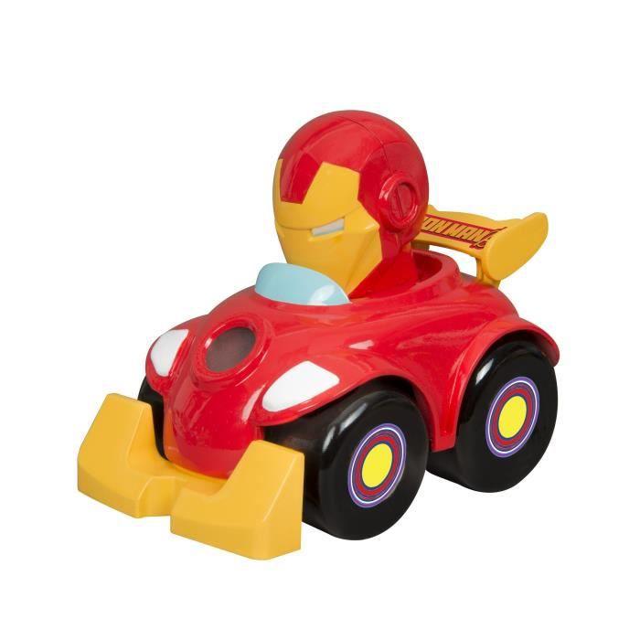 TOY STATE Hero Bump and Go - Iron Man - Garçon et Fille - A partir de 2 ans - Livré à l'unitéVEHICULE MINIATURE ASSEMBLE - ENGIN TERRESTRE MINIATURE ASSEMBLE