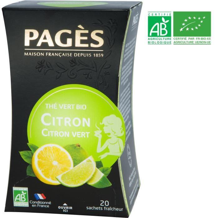 PAGES Thé Vert Citron Bio