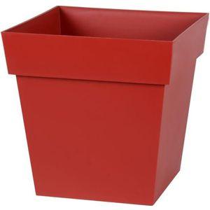 EDA Pot carré Toscane 32cm - Contenance 22L - Rouge rubis