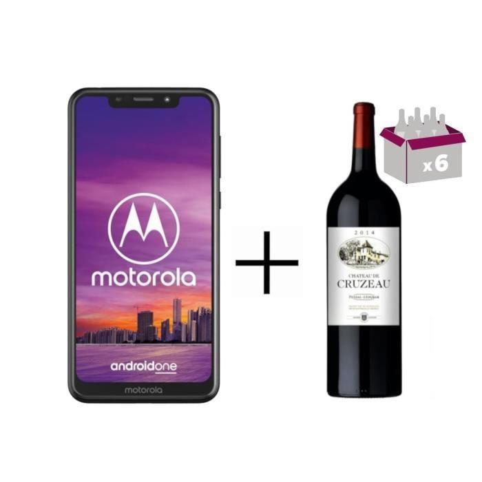 Pack Motorola One et Caisse Château de Cruzeau 2016 Pessac-Léognan (x6)