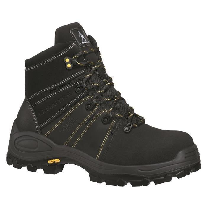 LEMAÎTRE TRAIL VIBRAM Chaussures de sécurité haute Trek S3 CI HI HRO SRC noir