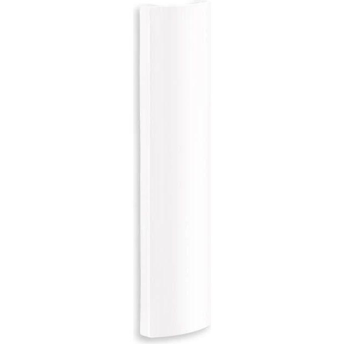 MELICONI Cache-câbles mural - ABS - L 9 x P 2,7 x H 35 cm - Blanc