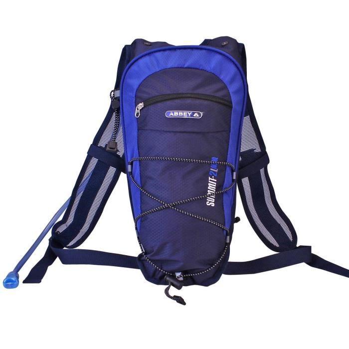 ABBEY Sac à dos avec poche à eau 2 Litres - Bleu