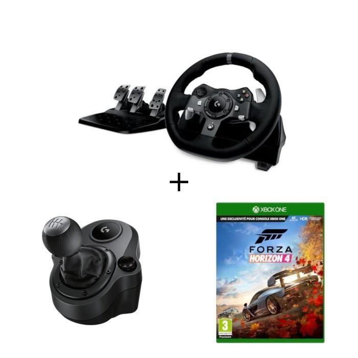LOGITECH Logitech Volant de Course G920 Driving Force - Xbox One et PC + Levier de Vitesse Driving Force Shifter + JEU FORZA XBOX