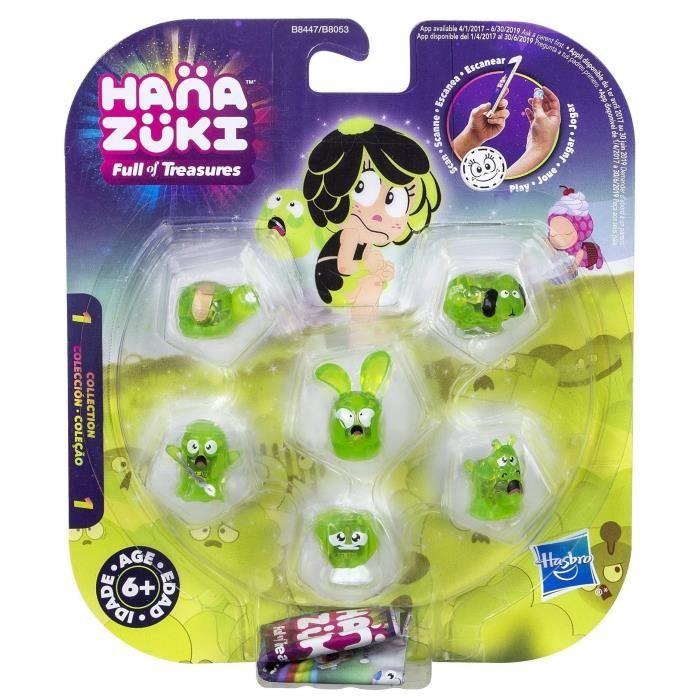 HANAZUKI - Pack 5 Trésors + 1 mini Hemka Vert Pomme