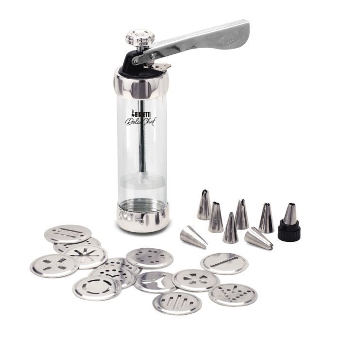 BIALETTI Dolce Chef Kit Biscuits Maker 22 pièces