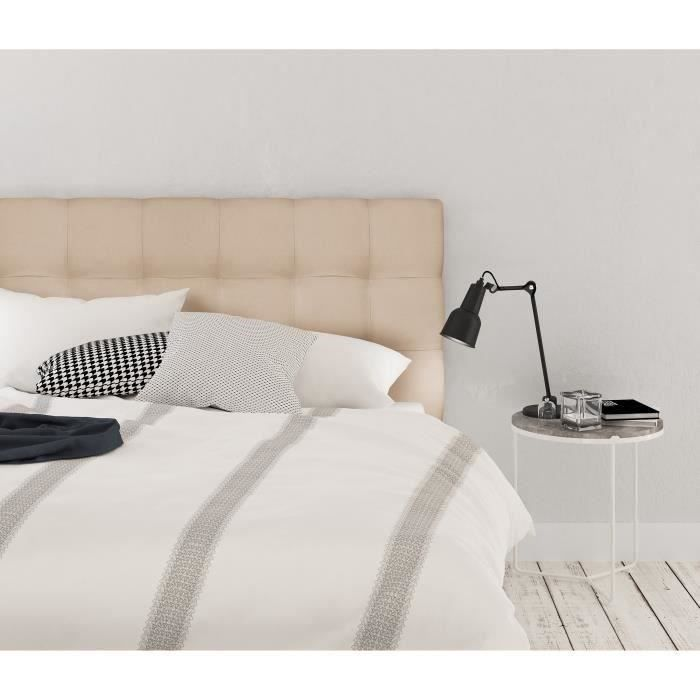 FINLANDEK Tête de lit ARMANCE classique - Tissu beige - L 140 cm
