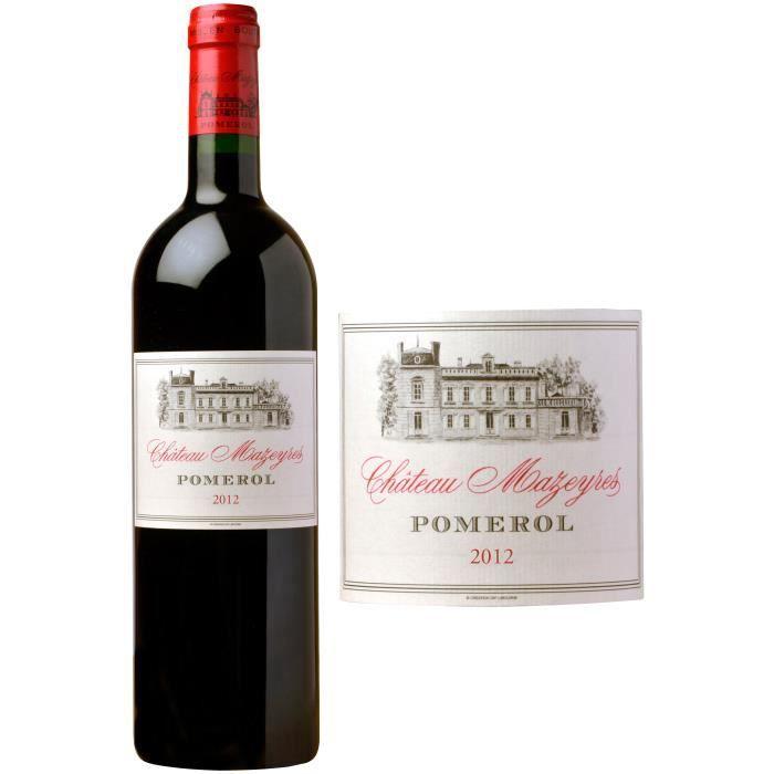 Château Mazeyres - 2012 - Pomerol - Grand Vin de Bordeaux - Vin rougeVIN ROUGE