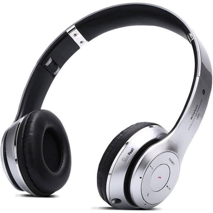 Casque audio Bluetooth multifonction : Lecteur MP3/WMA – Radio FM – Micro intégré- Support TF cardTRANSMETTEUR FM DE VOITURE