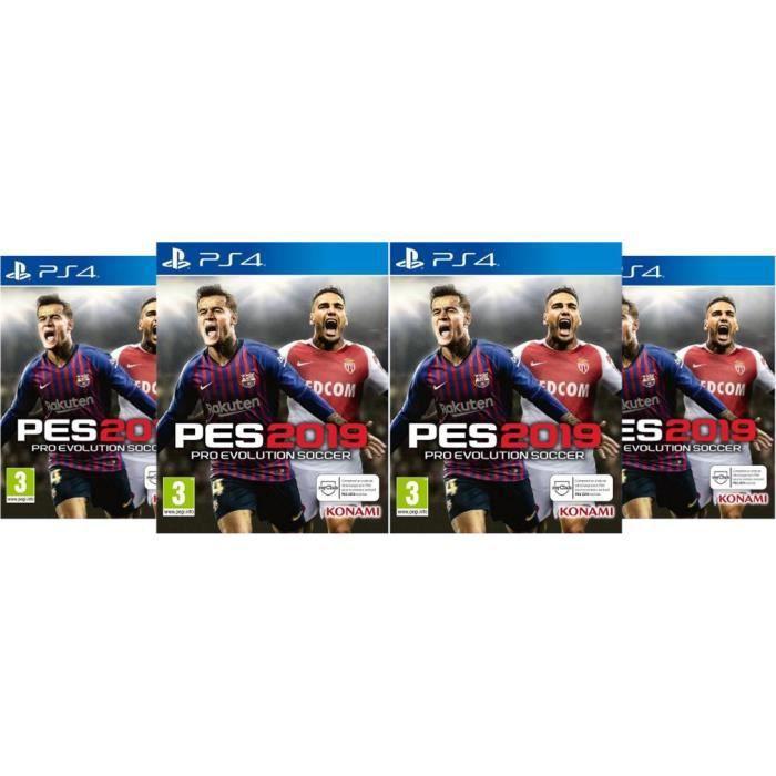 Pack 4 jeux PES 2019 PS4