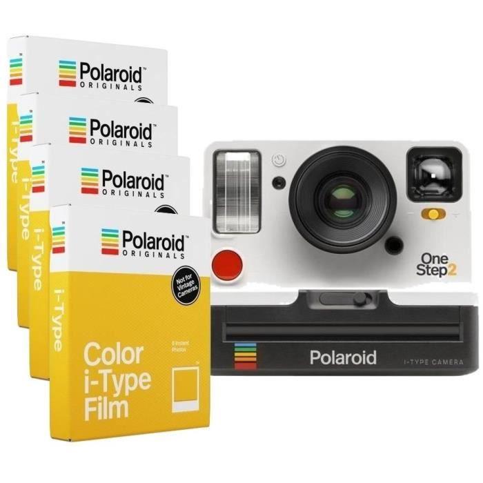 Polaroid OneStep2 - Avec Viseur - Appareil photo instantané - Blanc + 32 Films