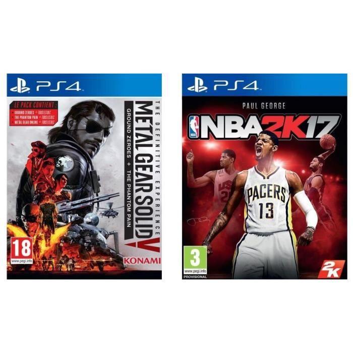 Pack de 2 jeux PS4 : MGS V + NBA 2K17