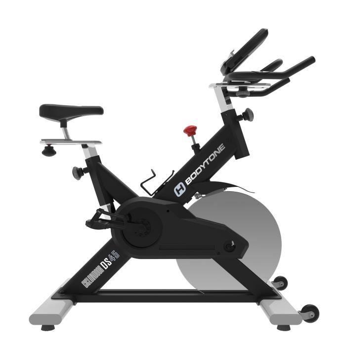 BODYTONE Vélo Spinning DS-45, 26KG inertie, connexion Bkool / Zwift bluetooth, courroie, 5min montage