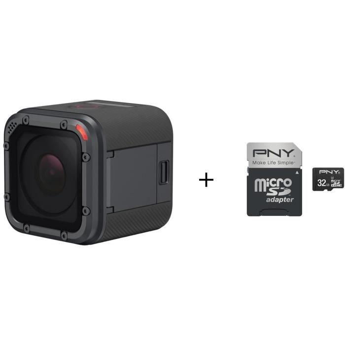 Pack GOPRO HERO 5 Session Caméra de sport + Carte mémoire 32 Go
