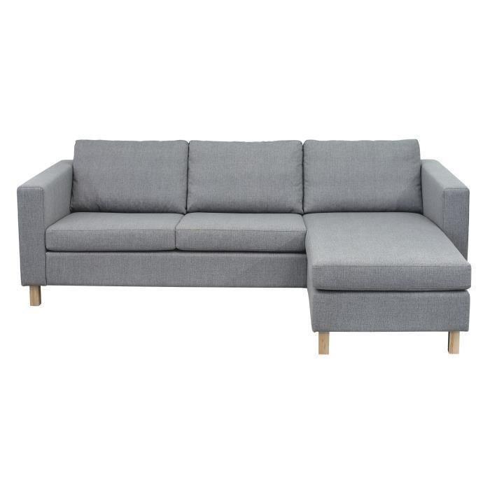 FINLANDEK Canapé tissu gris chez CDiscount