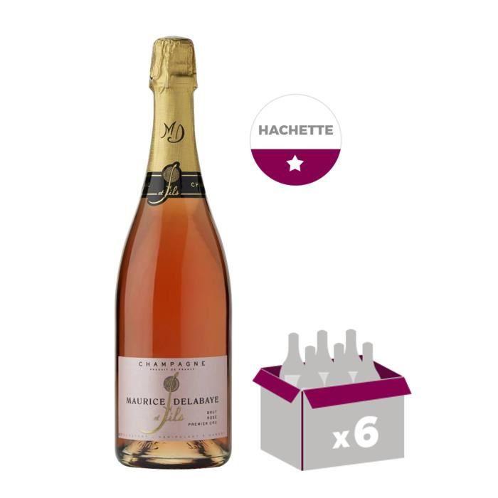 Maurice delabaye fils champagne brut rosé 75 cl x 6