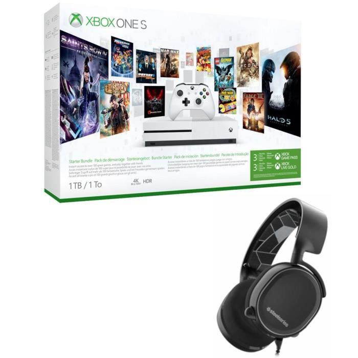 Xbox One S 1 To Game Pass + Casque Steel Series
