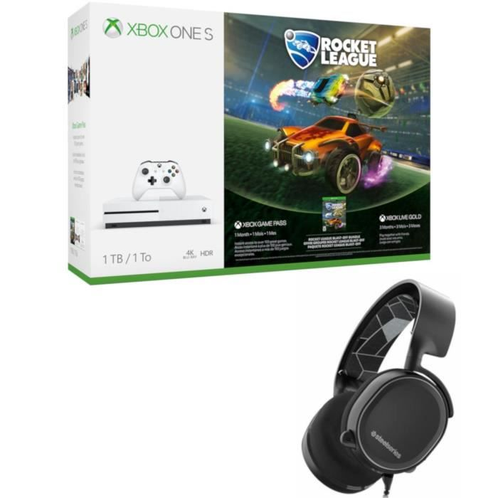 Xbox One S 1 To Rocket League + Casque Steel Series