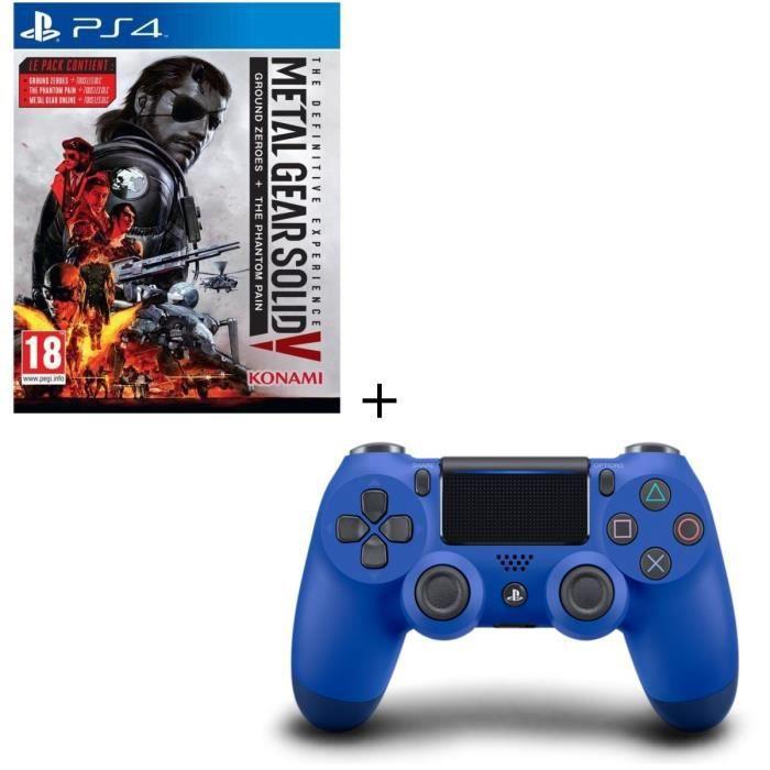 Metal Gear Solid V + Manette DualShock 4 Bleue V2