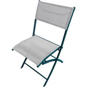 Lot de 6 chaises pliantes de jardin aluminium gris