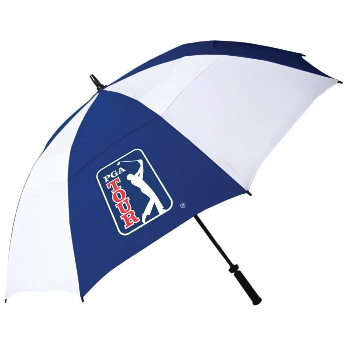PGA TOUR Parapluie de Golf à l'Epreuve du Vent - Blanc et Bleu