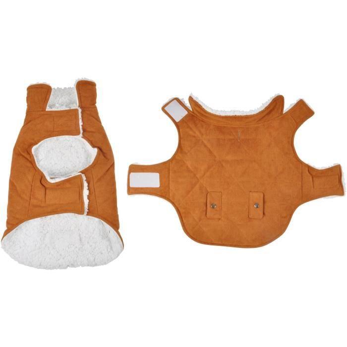 Manteau Will - Polyester double polaire - 35 cm - Camel - Pour chien