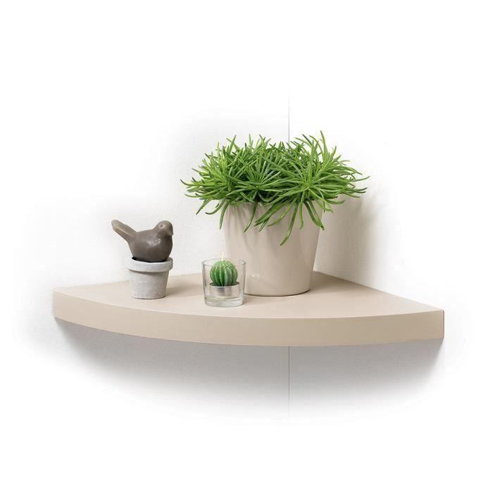 Matière : MDF - Finition : PVC lisse - Dimensions : 25x25x3,4 cm - Coloris : taupeETAGERE MURALE - ECHELLE ETAGERE