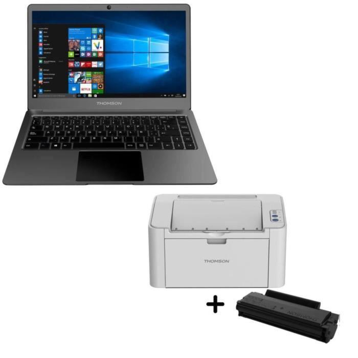 THOMSON PC portable NEOX13-4T32 + Imprimante laser monochrome DPI + TONER MONOCHROME