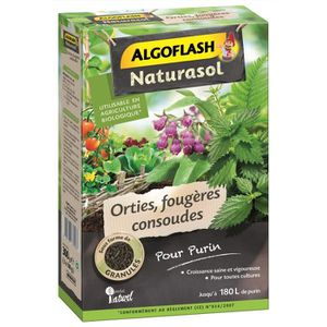 ALGOFLASH NATURASOL Orties, foug?res, consoudes pour purin - 300 g