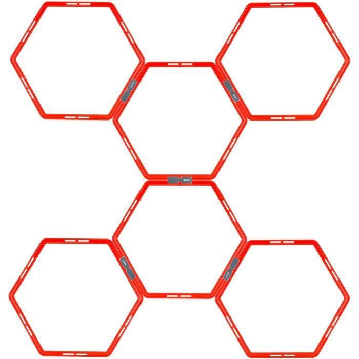 AVENTO Grille d'agilité hexagonale 6 pièces