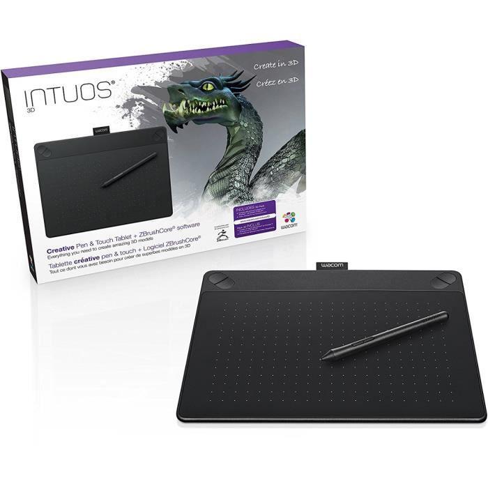 Wacom Tablette graphique Intuos 3D - Noir - Stylet - USB