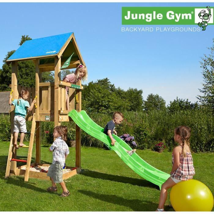 TRIGANO Aire de Jeux Jungle Gym Castle - Hydro toboggan de 2,20m de glisse
